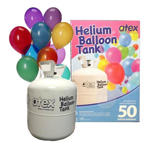 Helium Balloons Ribbons Balloon Gas Tank Party