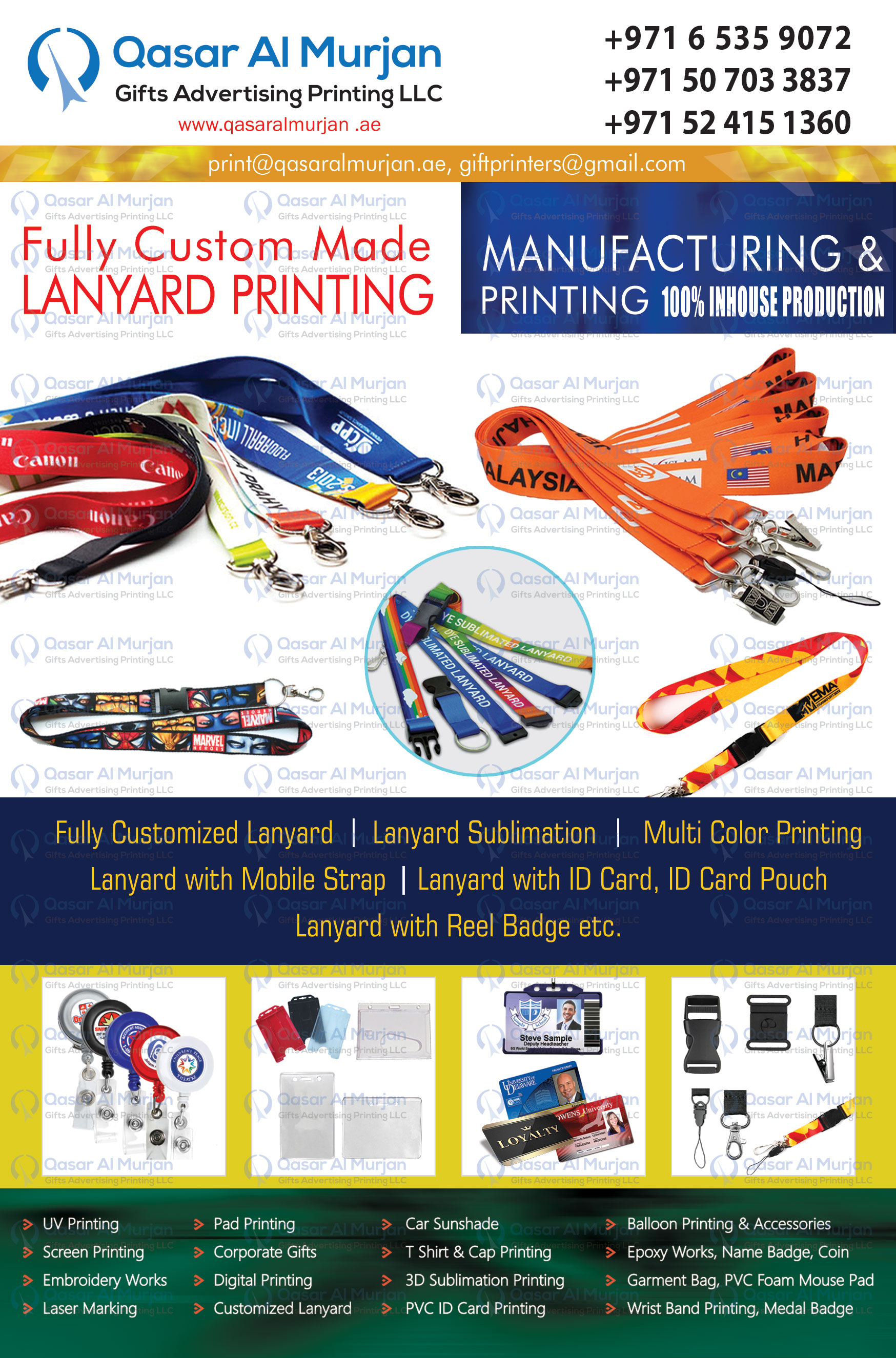 Lanyard manufacturer and printing company in uae