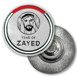 customized-metal-coated-Year-of-Zayed-Round-Badges-supplier in UAE, Abudhabi, Sharjah, Al Ain, Ajman, RAK, Dubai