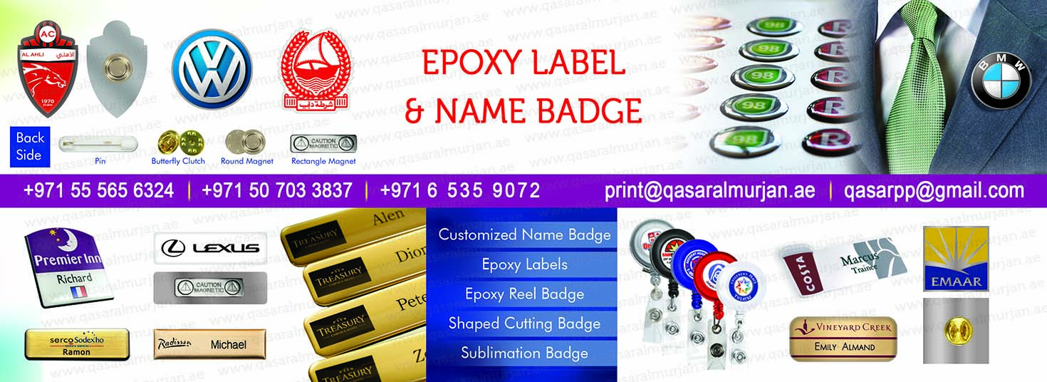 Epoxy Label printing, epoxy badge, name badge, epoxy sticker